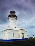 Faro della baia di Byron Fotografie Stock