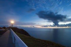 Faro della baia di Byrong ad alba immagini stock libere da diritti