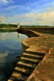 Faro della banchina, Ardrishaig, Scozia Immagine Stock