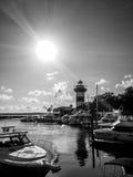 Faro della città del porto Immagini Stock Libere da Diritti