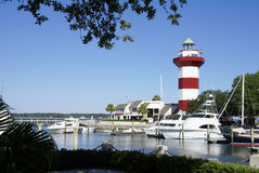 Faro della città del porto di Hilton Head Immagini Stock Libere da Diritti