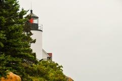 Faro della luce rossa Fotografie Stock Libere da Diritti