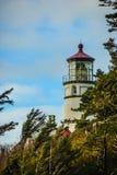 Faro della testa di Heceta, costa centrale dell'Oregon Fotografie Stock