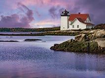 Faro della testa di Hendricks in Maine, U.S.A. Fotografia Stock