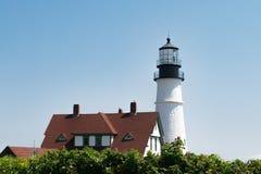 Faro della testa di Portland, Portland Maine, U.S.A. fotografie stock libere da diritti