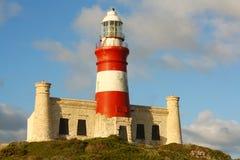 Faro di Agulhas del capo, Sudafrica Fotografia Stock