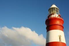 Faro di Agulhas del capo, Sudafrica Fotografie Stock Libere da Diritti