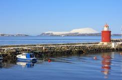 Faro di Alesund Fotografia Stock