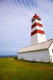 Faro di Alnes all'isola di Godoy vicino a Alesund, Norvegia Immagini Stock
