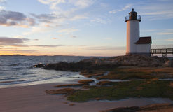 Faro di Annisquam in Massachusetts immagine stock libera da diritti