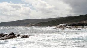 Faro di Augusta e linea costiera della costa di Leeuwin immagini stock libere da diritti
