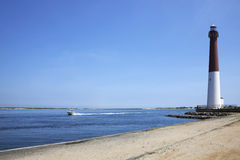 Faro di Barnegat, New Jersey immagine stock libera da diritti