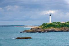 Faro di Biarritz Fotografia Stock Libera da Diritti