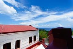 Faro di Bojeador del capo, Burgos, Ilocos Norte, Filippine Fotografia Stock Libera da Diritti