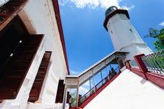 Faro di Bojeador del capo, Burgos, Ilocos Norte, Filippine Immagine Stock Libera da Diritti