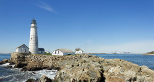 Faro di Boston Immagine Stock