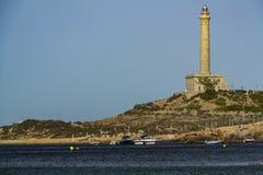 Faro di Cabo de Palos fotografie stock