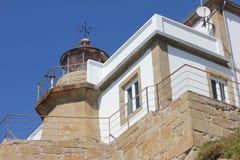 Faro di Cabo Prioriño a Ferrol Fotografia Stock