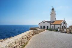 Faro di Capdepera a Cala Ratjada Fotografia Stock