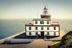 Faro di capo Finisterre, Galizia, Spagna fotografia stock