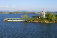 Faro di Champlain del lago Fotografia Stock Libera da Diritti
