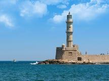 Faro di Chania immagini stock libere da diritti