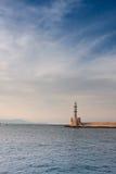 Faro di Chania Fotografia Stock