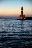 Faro di Chania Fotografie Stock