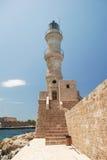 Faro di Chania in Crete Immagine Stock Libera da Diritti