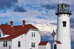 Faro di Chatham a Cape Cod Immagine Stock Libera da Diritti