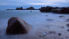 Faro di Corbiere Fotografia Stock