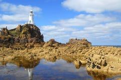 Faro di Corbiere della La, Jersey Fotografia Stock Libera da Diritti