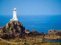 Faro di Corbiere della La, Jersey, isole del canale, Regno Unito Fotografia Stock