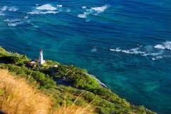 Faro di Diamond Head nella città di Honolulu Immagini Stock
