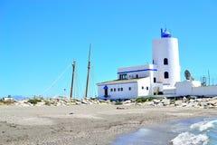 faro di Duquesa della La, Costa del Sol, Spagna Immagine Stock Libera da Diritti