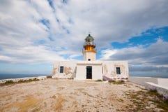 Faro di Fanari in Mykonos Fotografia Stock