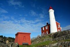 Faro di Fisgard, parco nazionale storico della collina forte di Rodd, Victoria BC, il Canada Immagini Stock Libere da Diritti