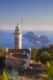 Faro di Gelidonya vicino al mar Mediterraneo in Adrasan Adalia Turchia 2014 Fotografie Stock