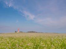 Faro di Happisburgh alla luce solare calda Immagine Stock Libera da Diritti