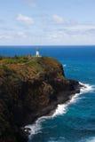 Faro di Kilauea e l'Oceano Pacifico Immagine Stock