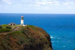 Faro di Kilauea in Kauai Immagine Stock