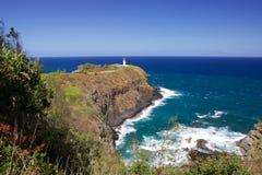 Faro di Kilauea, Kauai immagini stock libere da diritti