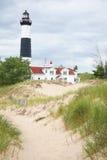 Faro di lago Michigan immagine stock