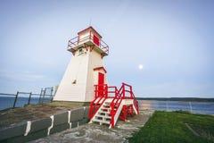 Faro di legno accanto a Amherst forte, Terranova, Canada fotografia stock