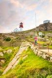Faro di Lindesnes in Norvegia Fotografia Stock Libera da Diritti