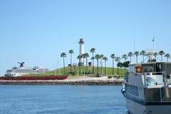 Faro di Long Beach Fotografia Stock Libera da Diritti