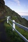 Faro di Makapuu, alba, Oahu, isole hawaiane Fotografia Stock Libera da Diritti