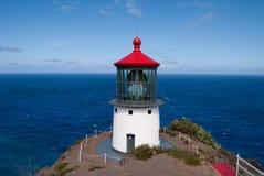 Faro di Makapuu, Oahu, Hawai Fotografia Stock