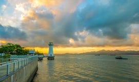 Faro di mattina Fotografie Stock