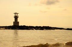 Faro di mattina Fotografia Stock